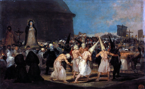 Francisco Jose de Goya Y Lucientes Procession of Flagellants - Hand Painted Oil Painting