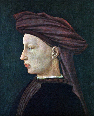 Masaccio Profile Portrait of a Young Man - Hand Painted Oil Painting