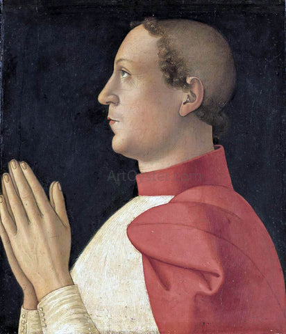 Antoniazzo Romano Profile Portrait of Cardinal Philippe de Levis - Hand Painted Oil Painting