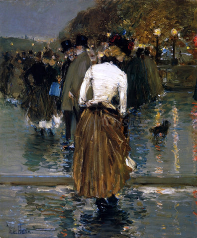 Frederick Childe Hassam Promenade at Sunset, Paris - Hand Painted Oil Painting