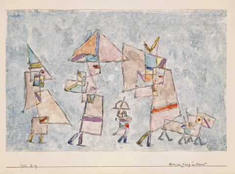 Paul Klee Promenade in the Orient - Hand Painted Oil Painting