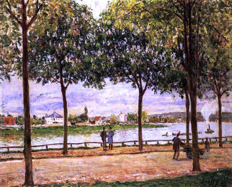 Alfred Sisley Promenade of Chestnut Trees - Hand Painted Oil Painting