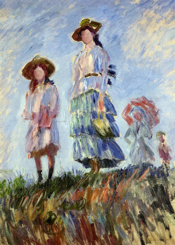 Claude Oscar Monet Promenade (study) - Hand Painted Oil Painting