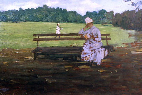 William Merritt Chase Prospect Park, Brooklyn - Hand Painted Oil Painting
