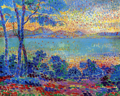 Henri Edmond Cross Provence Landscape - Hand Painted Oil Painting