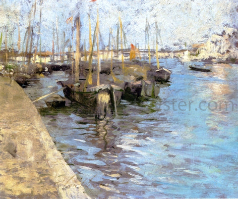 Charles Webster Hawthorne Provincetown Harbor - Hand Painted Oil Painting