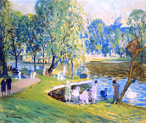 Arthur Clifton Goodwin Public Garden, Boston - Hand Painted Oil Painting