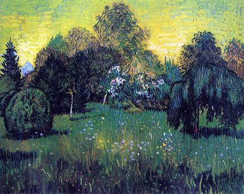 Vincent Van Gogh Public Park with Weeping Willow: The Poet's Garden I - Hand Painted Oil Painting
