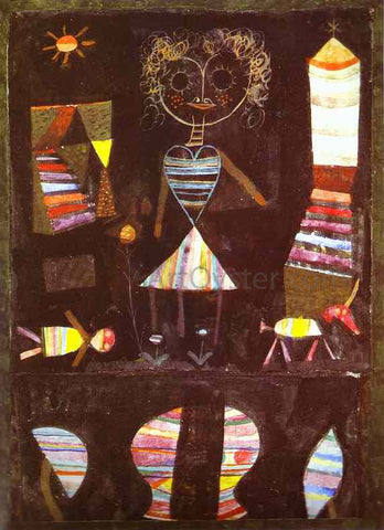 Paul Klee Puppet Theater - Hand Painted Oil Painting