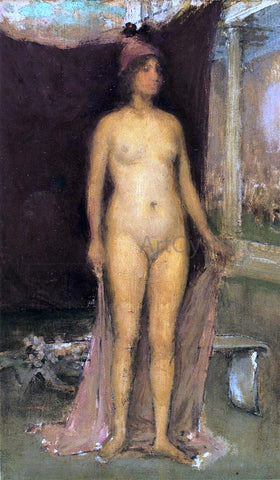 James McNeill Whistler Purple and Gold: Phryne the Superb! - Builder of Temples - Hand Painted Oil Painting