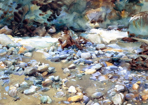 John Singer Sargent Purtud, Bed of a Glacier Torrent - Hand Painted Oil Painting