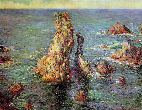Claude Oscar Monet Pyramids at Port-Coton - Hand Painted Oil Painting
