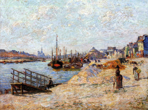 Armand Guillaumin Quai de Bercy - Hand Painted Oil Painting