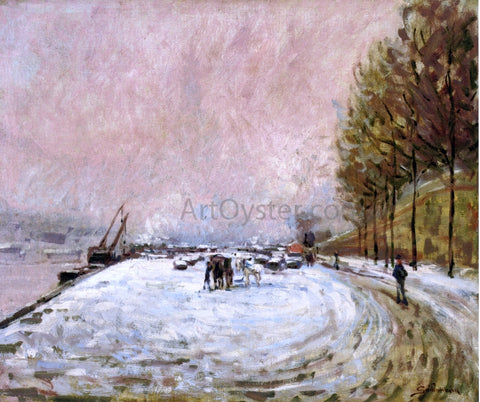Armand Guillaumin Quai Saint Bernard in the Snow - Hand Painted Oil Painting