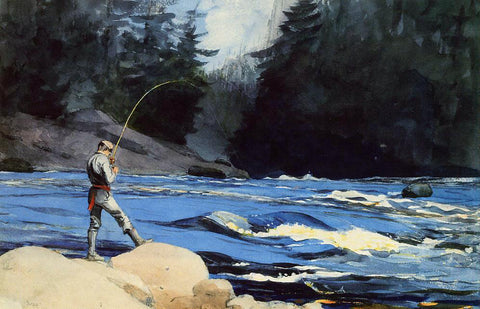 Winslow Homer Quananiche, Lake St. John - Hand Painted Oil Painting