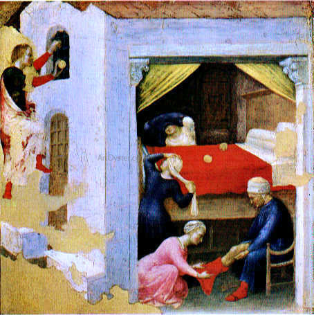 Gentile Da Fabriano Quaratesi Altarpiece: St Nicholas and Three Poor Maidens - Hand Painted Oil Painting