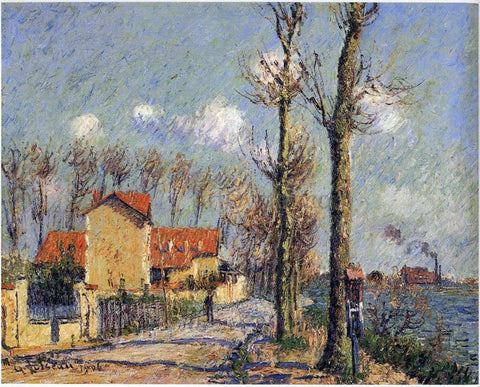 Gustave Loiseau Quay of Pothius in Pontoise - Hand Painted Oil Painting