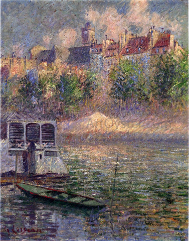 Gustave Loiseau Quay of the Hotel Deville in Paris - Hand Painted Oil Painting