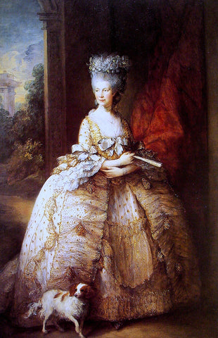 Thomas Gainsborough Queen Charlotte - Hand Painted Oil Painting