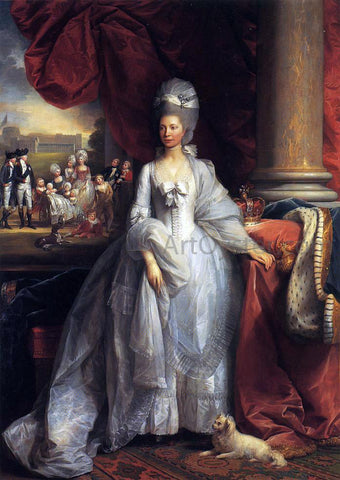 Benjamin West Queen Charlotte - Hand Painted Oil Painting