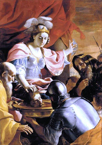 Mattia Preti Queen Tomyris Receiving the Head of Cyrus, King of Persia - Hand Painted Oil Painting