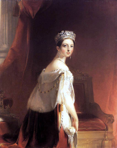 Thomas Sully Queen Victoria - Hand Painted Oil Painting