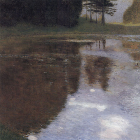Gustav Klimt Quiet Pond in the Park of Appeal - Hand Painted Oil Painting