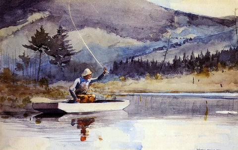 Winslow Homer Quiet Pool on a Sunny Day - Hand Painted Oil Painting
