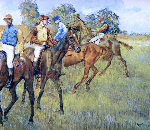 Edgar Degas Race Horses - Hand Painted Oil Painting
