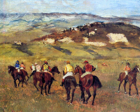Edgar Degas Racehorses - Hand Painted Oil Painting