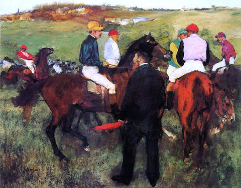 Edgar Degas Racehorses at Longchamp - Hand Painted Oil Painting