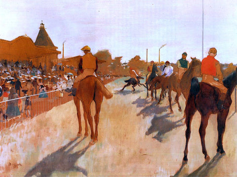 Edgar Degas Racehorses Before the Stands - Hand Painted Oil Painting