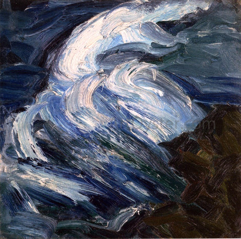 Merton Clivette Raging Sea - Hand Painted Oil Painting