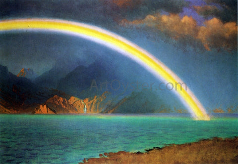 Albert Bierstadt Rainbow over Jenny Lake, Wyoming - Hand Painted Oil Painting