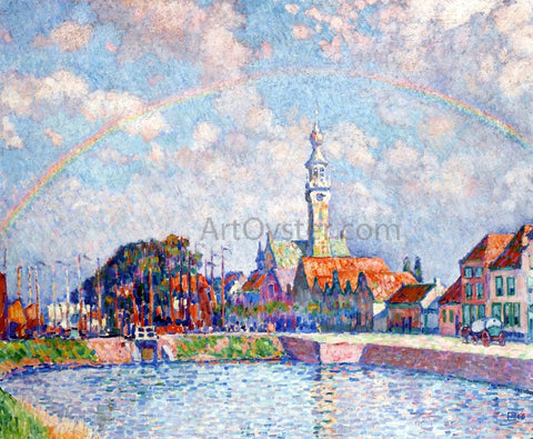 Theo Van Rysselberghe Rainbow over Veere - Hand Painted Oil Painting