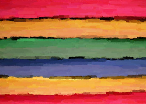 Our Original Collection Rainbow Wall - Hand Painted Oil Painting