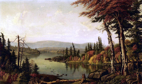 Levi Wells Prentice Raquette Lake - Hand Painted Oil Painting
