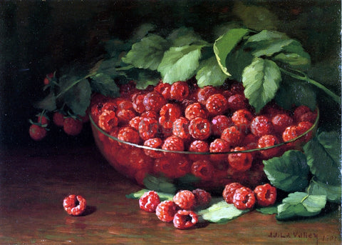 Jonas Joseph LaValley Raspberries - Hand Painted Oil Painting