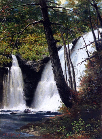 Miner Kilbourne Kellogg Raymondskill Falls, Pike County, Pennsylvania - Hand Painted Oil Painting