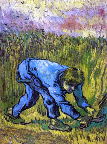 Vincent Van Gogh Reaper with Sickle (after Millet) - Hand Painted Oil Painting