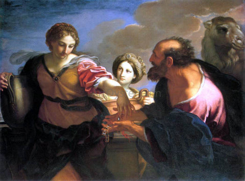 Carlo Maratti Rebecca and Eliezer at the Well - Hand Painted Oil Painting