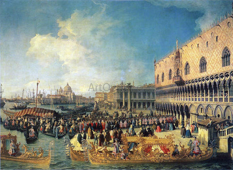 Canaletto Reception of the Imperial Ambassador at the Doge's Palace - Hand Painted Oil Painting