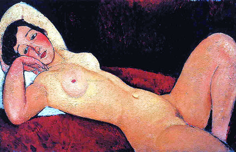 Amedeo Modigliani Reclining Nude (also known as La Reveuse) - Hand Painted Oil Painting