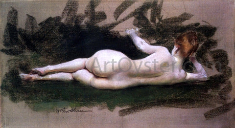 William Merritt Chase Reclining Nude - Hand Painted Oil Painting