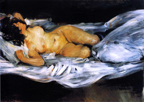 Lovis Corinth Reclining Nude - Hand Painted Oil Painting