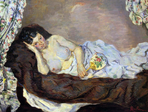 Armand Guillaumin A Reclining Nude - Hand Painted Oil Painting