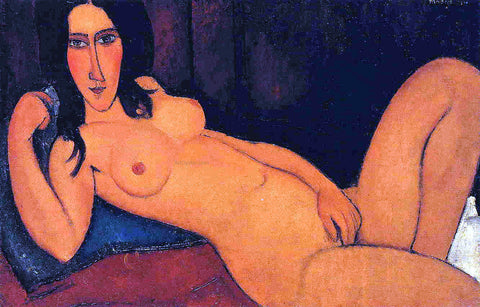 Amedeo Modigliani Reclining Nude with Loose Hair - Hand Painted Oil Painting