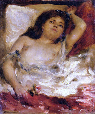 Pierre Auguste Renoir Reclining Semi-Nude (also known as nude male half-length) - Hand Painted Oil Painting