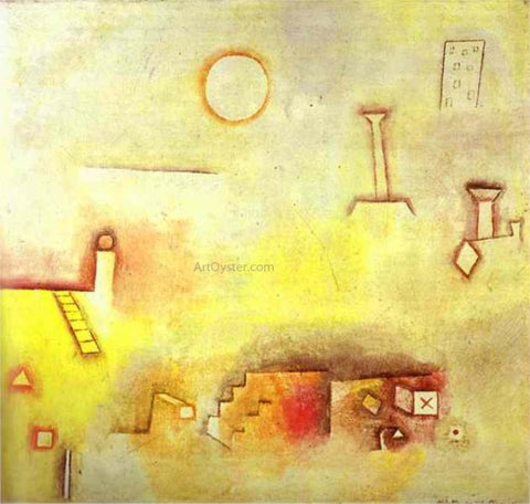 Paul Klee Reconstructing - Hand Painted Oil Painting