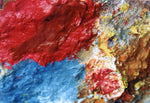 Our Original Collection Red and Blue Merging - Hand Painted Oil Painting